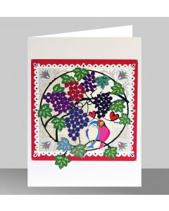Forever Cards Laser Cut Blank Card Lovebirds And Grapes