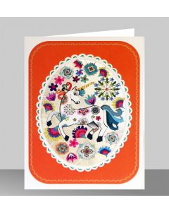 Forever Cards Laser Cut Blank Card Unicorn In An Oval