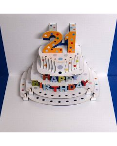 Forever Cards 21st Birthday - Laser Cut Pop Up Card