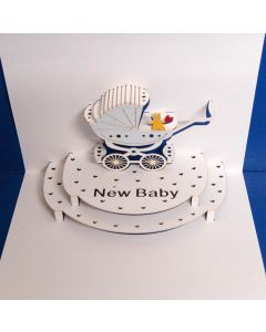 Forever Cards Pop Up New Baby Card New Baby Boy