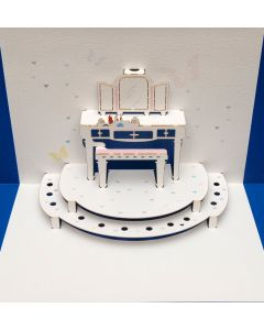 Forever Cards Pop Up Blank Card Dressing Table