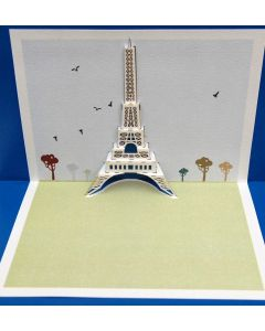Forever Cards Pop Up Iconic Building Card Eiffel Tower