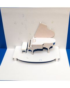 Forever Cards Pop Up Blank Card Piano