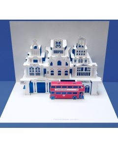 Forever Cards Pop Up Blank Card London Red Bus