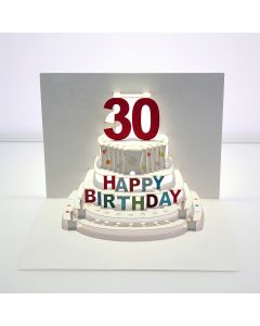 Forever Cards Pop Up Birthday Card 30th Birthday