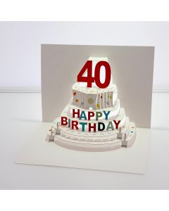 Forever Cards Pop Up Birthday Card 40th Birthday