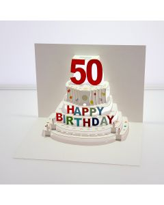 Forever Cards Pop Up Birthday Card 50th Birthday