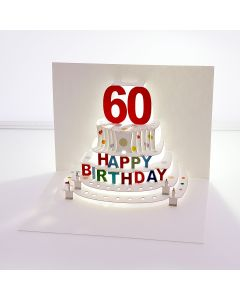 Forever Cards Pop Up Birthday Card 60th Birthday
