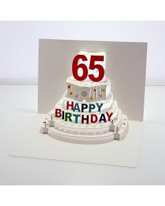 Forever Cards Pop Up Birthday Card 65th Birthday