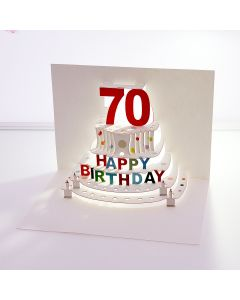 Forever Cards Pop Up Birthday Card 70th Birthday
