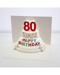 Forever Cards Pop Up Birthday Card 80th Birthday