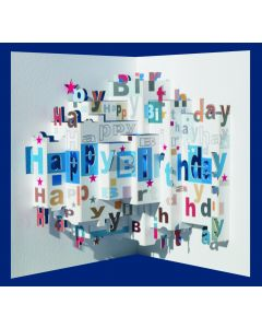 Forever Cards Pop Up Birthday Card Stars