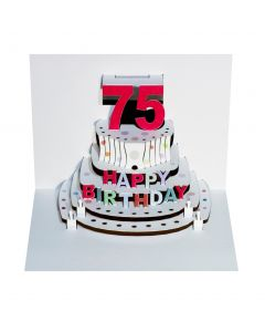 Forever Cards Pop Up Birthday Card 75th Birthday