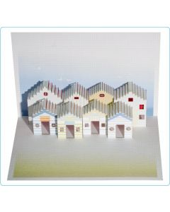 Forever Cards Pop Up Blank Card Beach Huts