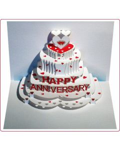Forever Cards Pop Up Anniversay Card Happy Anniversary
