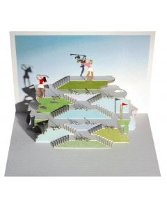 Forever Cards Pop Up Blank Card Golfer Lady