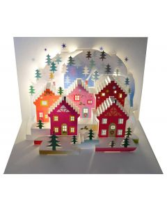 Forever Cards Pop Up Christmas Card Wonder of Christmas