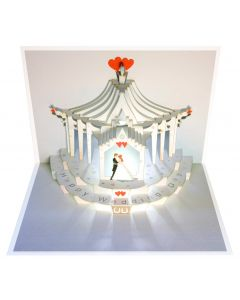 Forever Cards Pop Up Wedding Card Happy Wedding Day