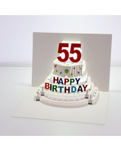 Forever Cards Pop Up Birthday Card 55th Birthday