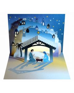Forever Cards Pop Up Christmas Card Nativity The Stable