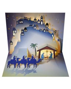 Forever Cards Pop Up Christmas Card Nativity The Arrival of the Magi