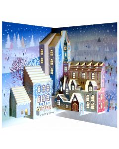Forever Cards Pop Up Christmas Card Carol Singers