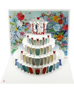 Forever Cards Pop Up Wedding Card On Your Wedding Day Mr and Mrs
