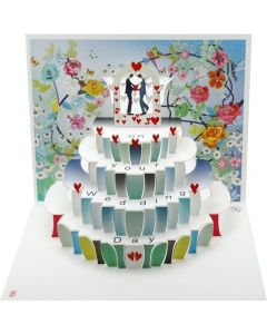 Forever Cards Pop Up Wedding Card On Your Wedding Day Mr and Mr
