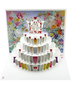 Forever Cards Pop Up Wedding Card On Your Wedding Day Mrs and Mrs