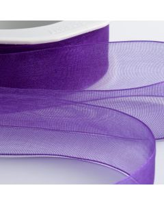 ,Italian Options - Organza Woven Edge Ribbon Purple