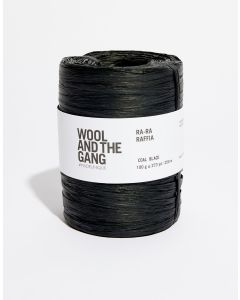 Coal Black Raffia - Wool and The Gang Ra Ra Raffia