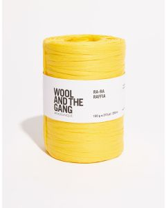 Soleil Yellow Raffia - Wool and The Gang Ra Ra Raffia