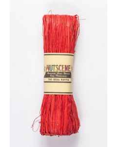 Nutscene Raffia Ribbon Red 50g