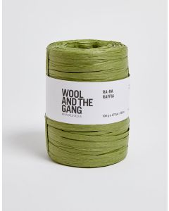 Grass Green Raffia - Wool and The Gang Ra Ra Raffia