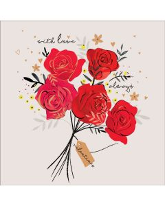 Alma Rose Valentine's Day Card Red Roses with Love Always