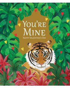 Bex Parkin Valentine's Day Card Tiger, You're Mine