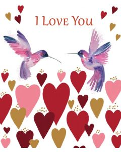 Bex Parkin Valentine's Day Card Humminbird Love