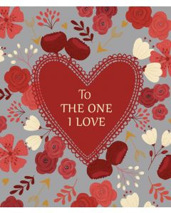 Bex Parkin Valentine's Day Card Floral, To the One I Love