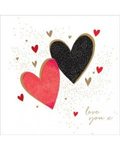 The Art File Sara Miller London Card Valentine's Day Card  Two Hearts
