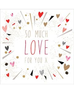 The Art File Sara Miller London Card Valentine's Day Card  So Much Love