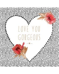 Sara Miller London, Valentine's Day Card  Roses Love You Gorgeous