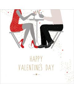 The Art File Sara Miller London Card Valentine's Day Card  Table for Two