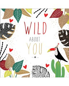 The Art File Sara Miller London Card Valentine's Day Card Wild About You