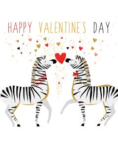 The Art File Sara Miller London Card Valentine's Day Card  Zebra Love