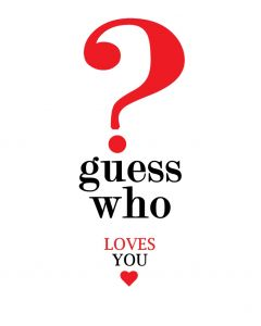 Portfolio Cards Valentine's Day Card Guess Who ?