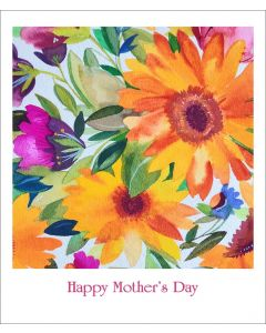Kim Parker Mother's Day Card Orange Gerbera Daisies