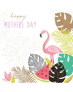 Sara Miller London, Jaz and Baz Mother's Day Card,  Flamingo Happy Mother's Day