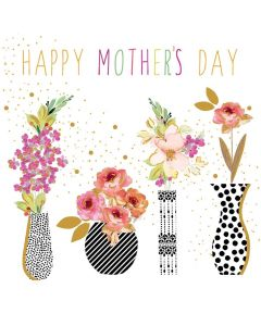 Sara Miller London, Jaz and Baz Mother's Day Card, Mother's Day Vases