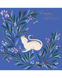 The Art File Sara Miller London Card White Cat and Bee