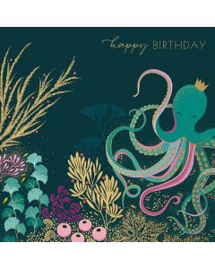 The Art File Sara Miller London Card Octopus and Coral